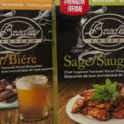 announcing beer and sage wood bisquettes from bradley smoker