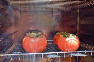 smoking tomatos