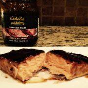 Smoked Honey Balsamic Glazed Salmon